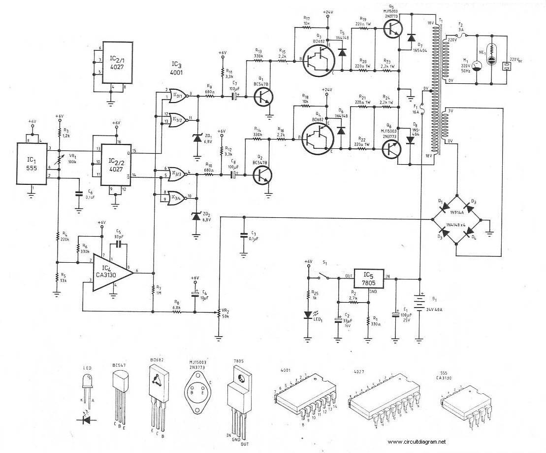 Sine Wave Inverter Circuit Diagram