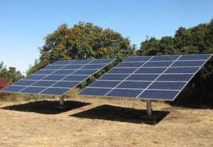 Pole Solar Panel mounting