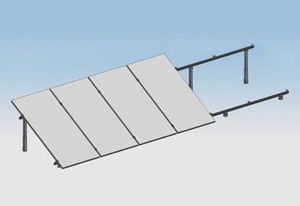 ground Solar panel mounting2