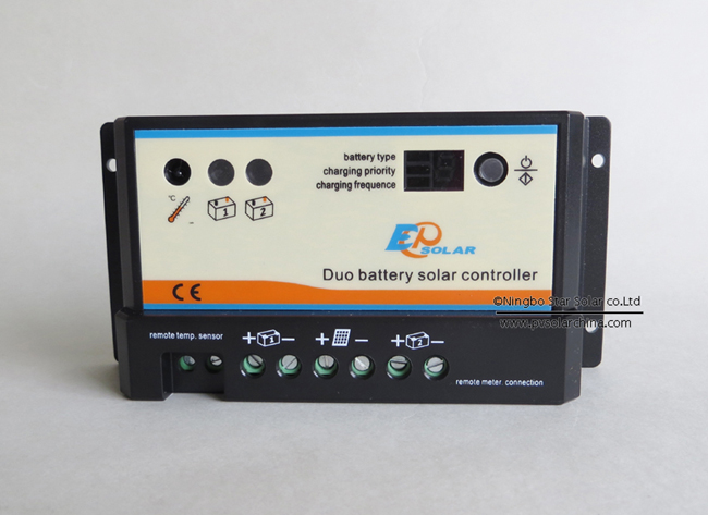 Epipdb-com 10A Dual battery Solar Controller for Golf Cart