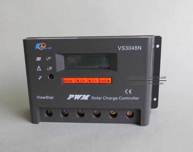 VS3048N 30A 48V LCD ViewStar Solar Charge Controller